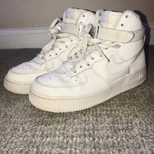 Nike Air Force 1 White High Top Sneakers